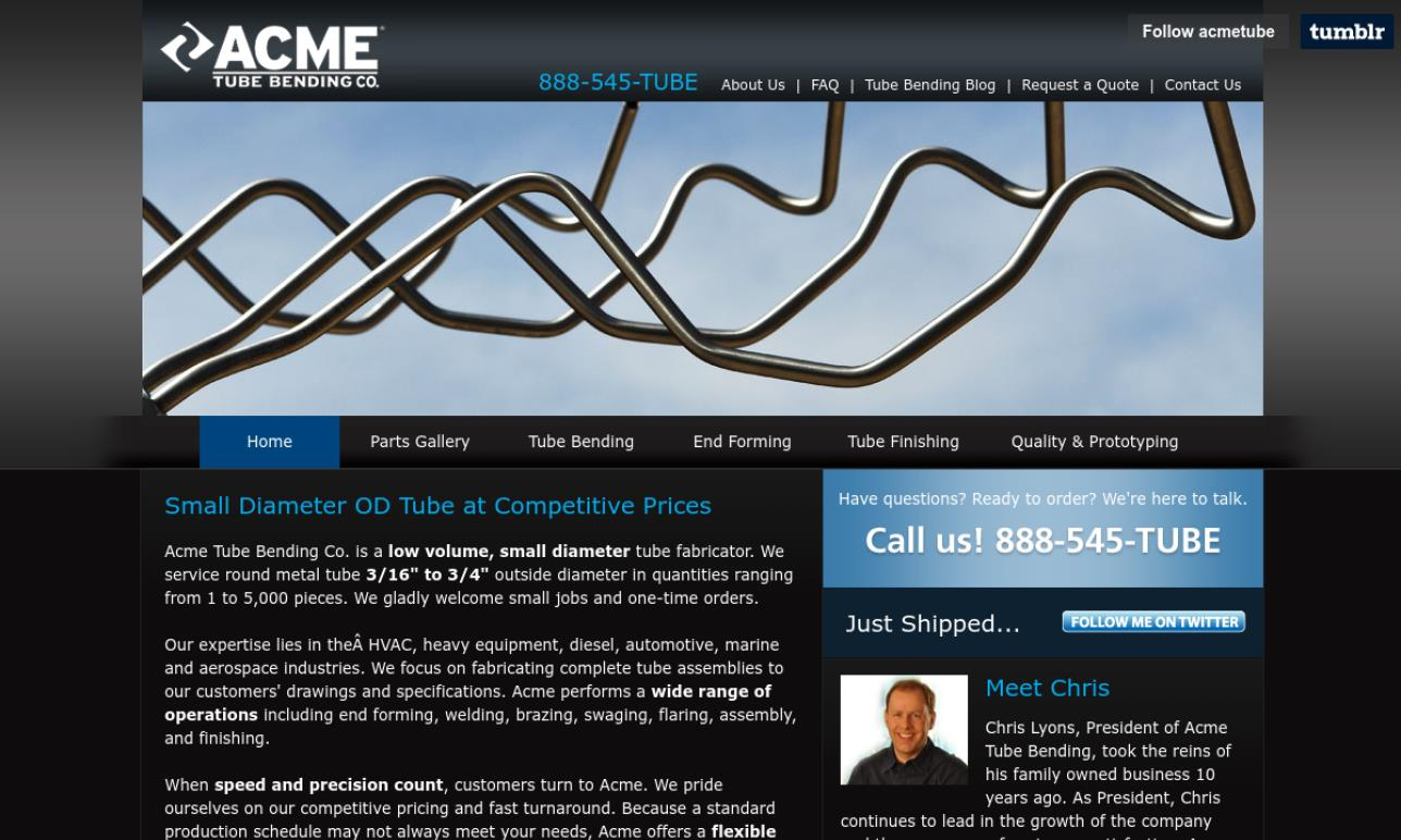 Acme Tube Bending Co., Inc.