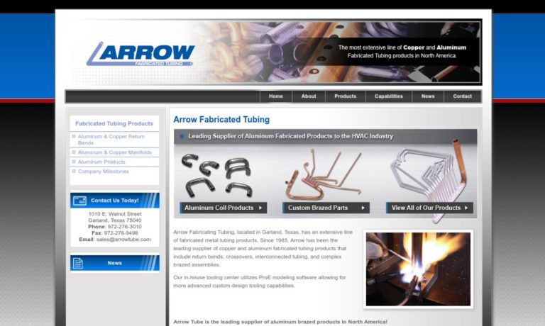 Arrow Fabricated Tubing