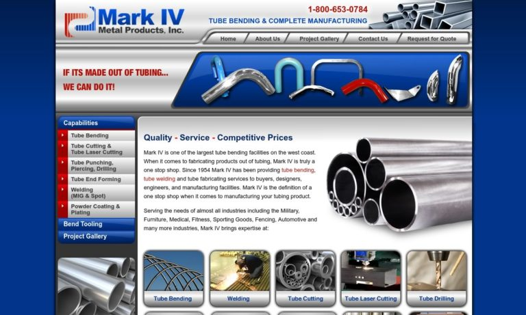 Mark IV Metal Products, Inc.
