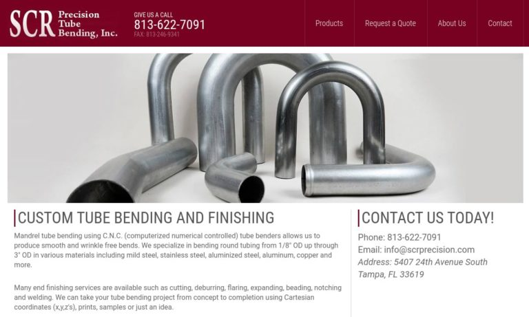 SCR Precision Tube Bending, Inc.